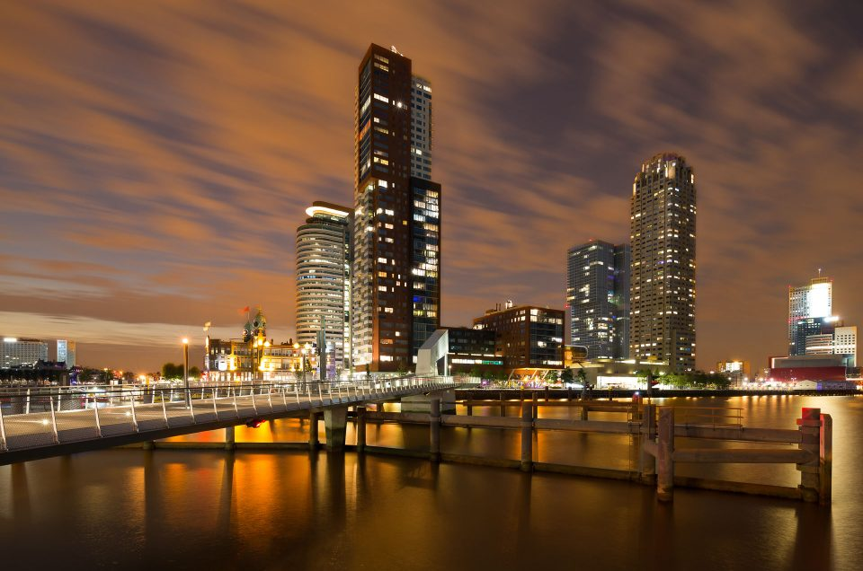 Foto van de skyline van Rotterdam