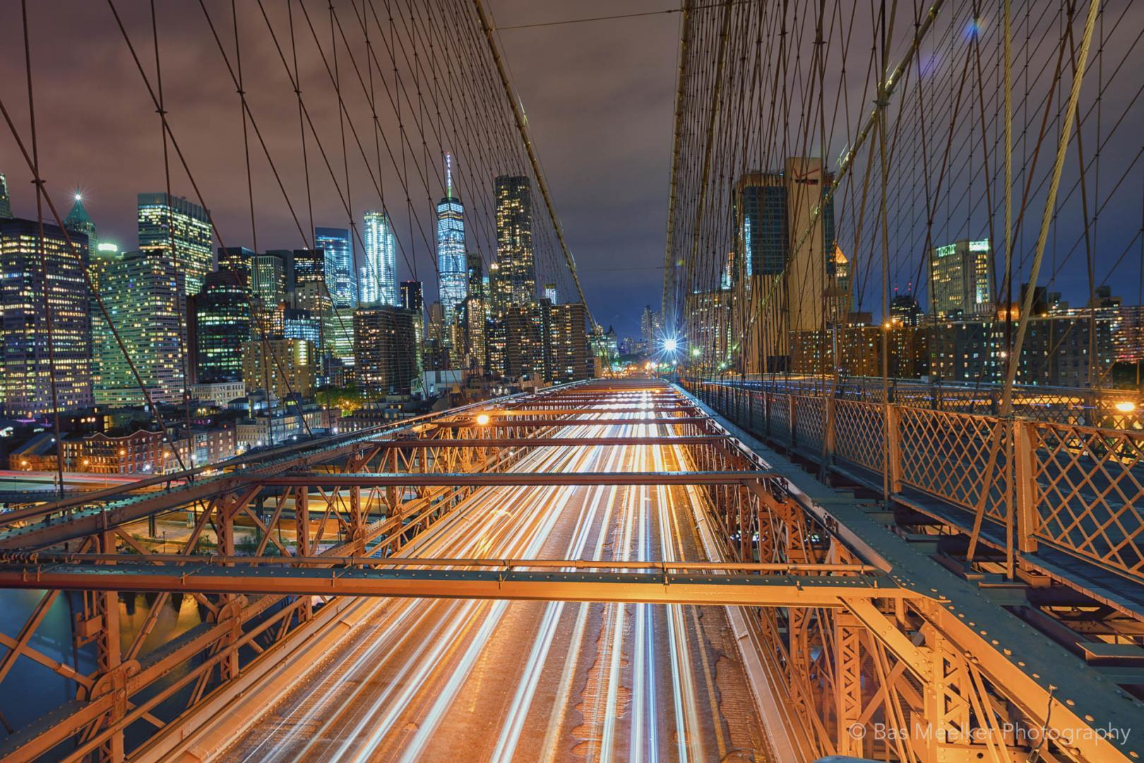 Een blik op Manhattan vanaf de Brooklyn Bridge, New York - Bas Meelker Landschapsfotografie