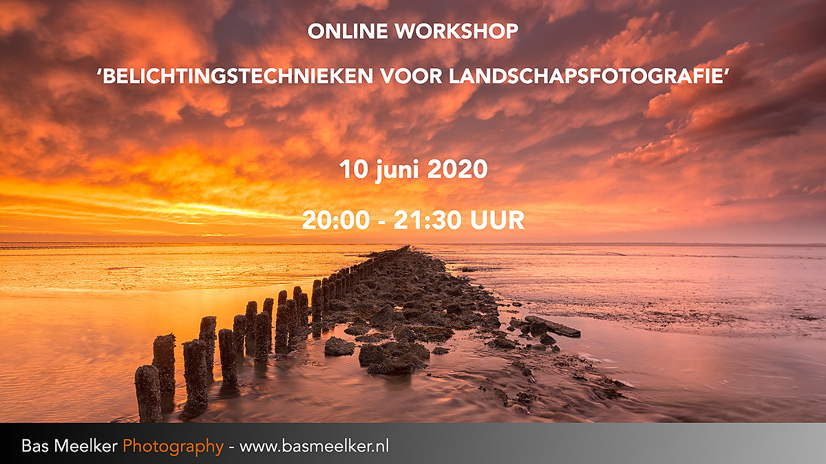 Online workshop Belichtingstechnieken voor landschapsfotografie 10 juni 2020