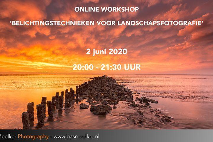 Online workshop Belichtingstechnieken voor landschapsfotografie 2 juni 2020