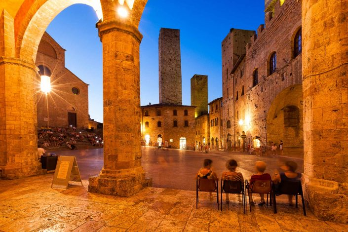 A warm summers evening in San Gimignano