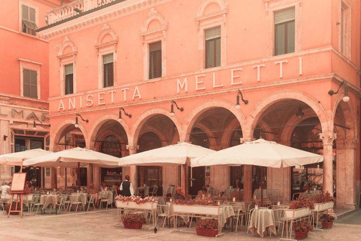 Caffè Meletti - Piazza del Popolo, Asoli Piceno, italy